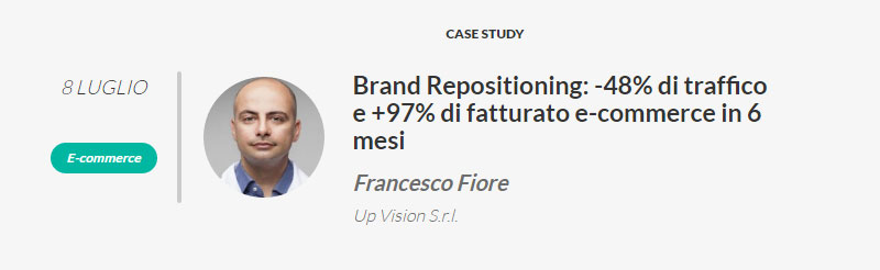 Francesco Fiore relatore al Web Marketing Festival (Rimini)