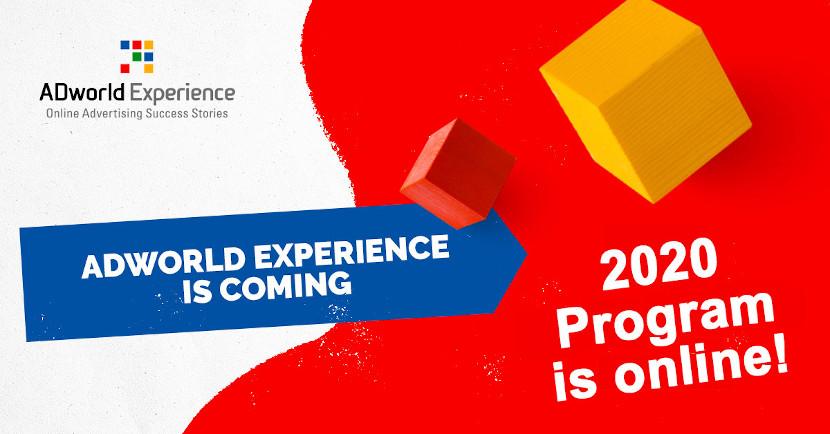 Programma ADworld Experience 2020